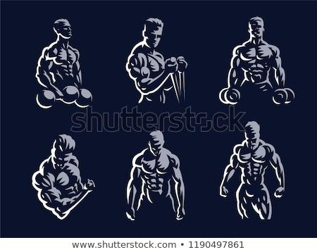 человека мускулистое тело красивый моде фитнес здоровья Сток-фото © tommyandone