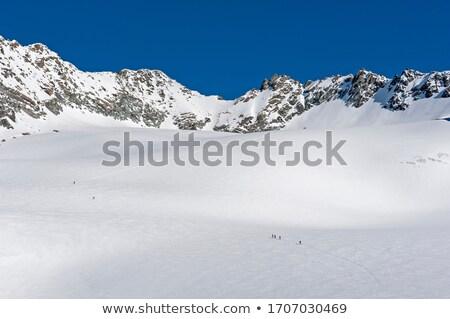 丘 平野 パノラマ 緑 花 雲 ストックフォト © chesterf