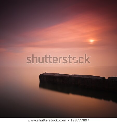mer · sunrise · mer · baltique · Pologne · plage · nature - photo stock © janhetman