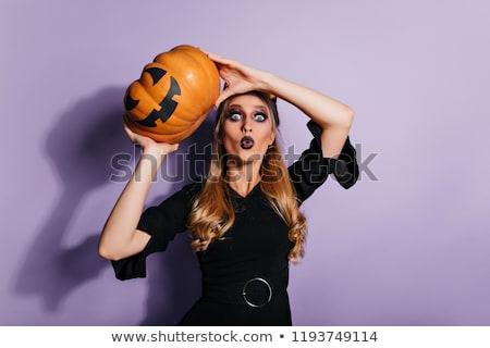 Bastante bruxa roxo preto gótico halloween Foto stock © Elisanth