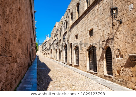 Medieval Avenue of the Knights Greece. Rhodos island. Stock photo © Hermione