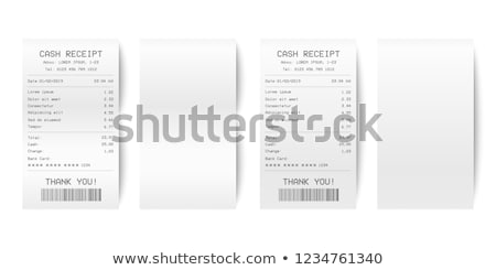 shopping receipt Stock photo © Marfot