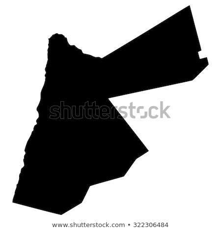 Contorno Jordânia mapa administrativo cidade asiático Foto stock © Volina