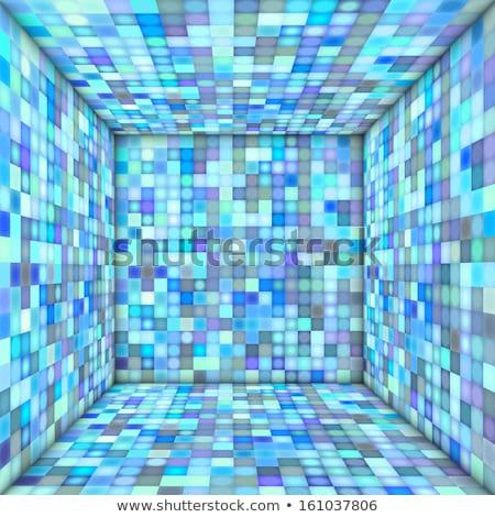 Mozaik tér csempézett üres hely többszörös kék Stock fotó © Melvin07