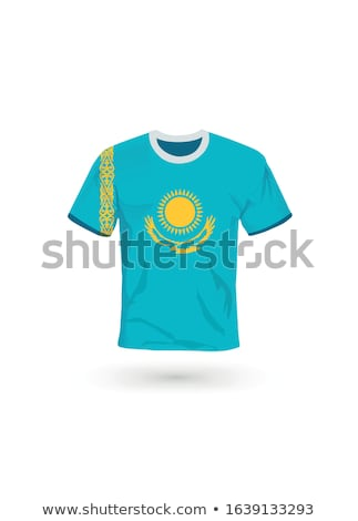 флаг Казахстан футбола команда стране Сток-фото © MikhailMishchenko