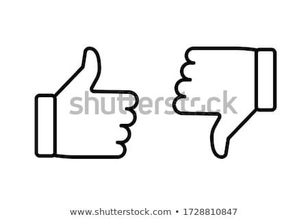 Aversión mano vector arte web rojo Foto stock © burakowski