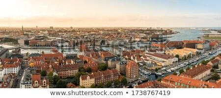Kopenhagen jachthaven haven panorama zee oceaan Stockfoto © chrisdorney