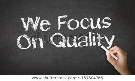 Stockfoto: Commited To Quality Chalk Illustration