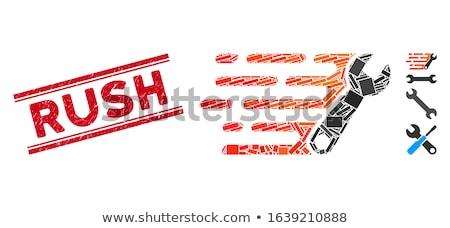 Prisa sello vector cliente goma aislado Foto stock © burakowski