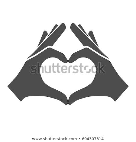 Handen hart vector vrouwelijke Rood bruiloft Stockfoto © beaubelle