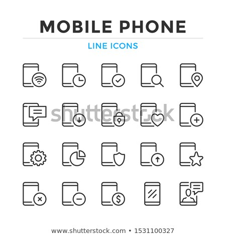 Simple Modern thin icon collection for smart phone applications Stock photo © orson