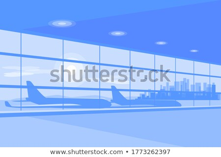 the new modern departure hall with gates Stock photo © meinzahn