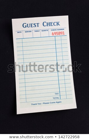 Vendég csekk étterem költség papír kéz Stock fotó © devon