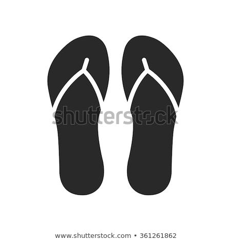 Siyah yalıtılmış beyaz elbise ayakkabı Stok fotoğraf © kitch