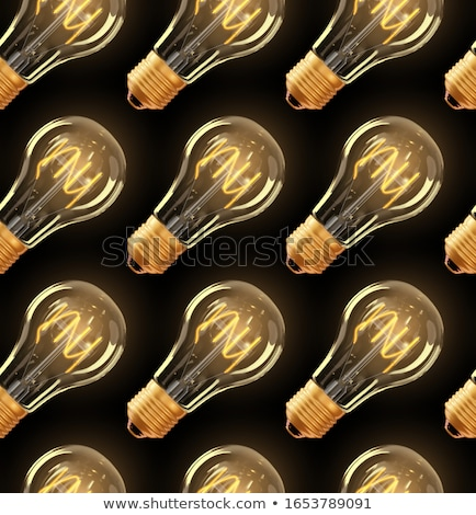 Stock photo: incandescent lamp