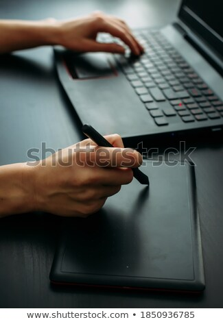 black drawing tablet stock photo © petrmalyshev
