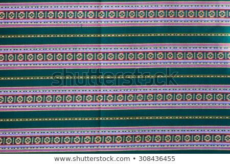 花柄 · 伝統的な · タイ · スタイル · 芸術 · 壁 - ストックフォト © stoonn