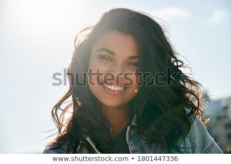 Genieten zonlicht vintage stijl meisje Stockfoto © Spectral