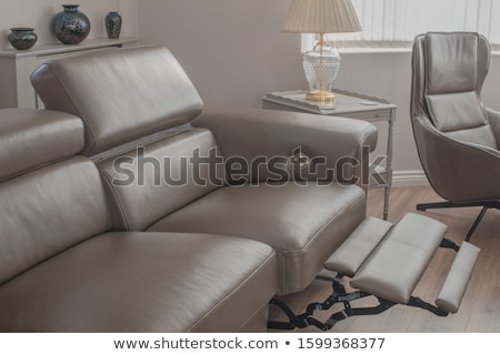 home details of rest with lounge chair and stylish lamps stock photo © vizarch