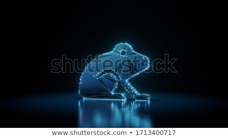 Digital illustration of  frog Stock photo © designers