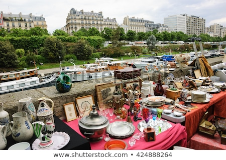 Vintage Place de la Bastille in Paris, France Stock photo © ilolab