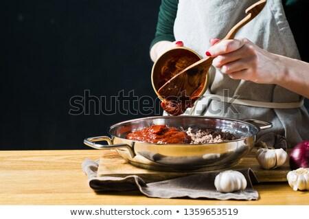 Cooking ingredients for mediterranean cuisine Stock photo © homydesign