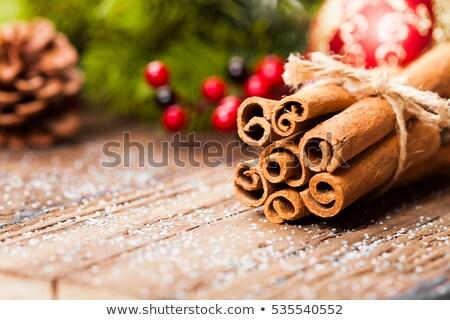 Anason tarçın Noel dekorasyon pişirme tatlı Stok fotoğraf © M-studio