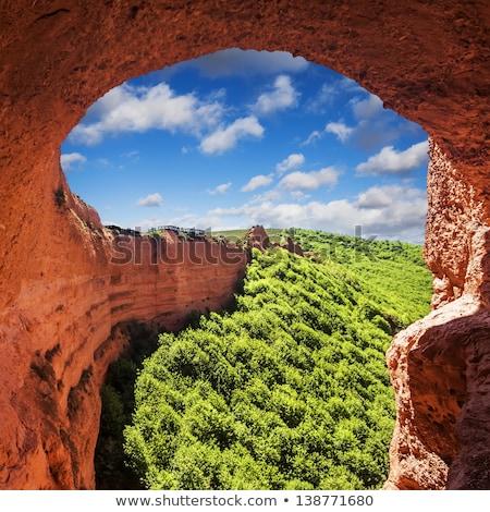 antigo · romano · Espanha · natureza · beleza · azul - foto stock © HERRAEZ