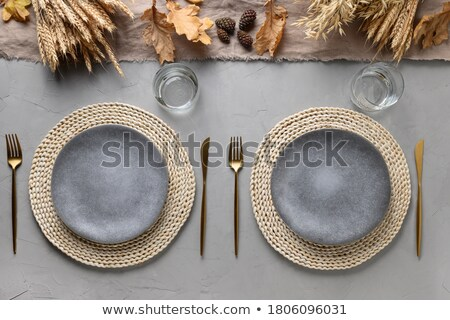 Autumn Place Setting stock photo © StephanieFrey