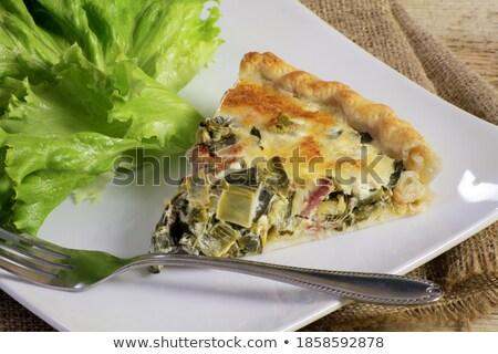 Póréhagyma főtt szalonna zöldség étel Stock fotó © M-studio