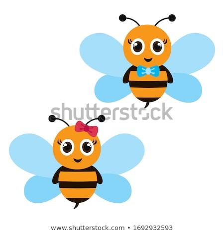Bee jongen weinig jurk pak Stockfoto © Soleil