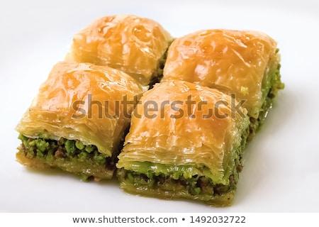 пластина десерта меда культура гайка Сток-фото © hermestr2010