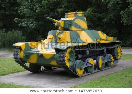 Tweede wereld oorlog licht tank geïsoleerd Stockfoto © stevanovicigor
