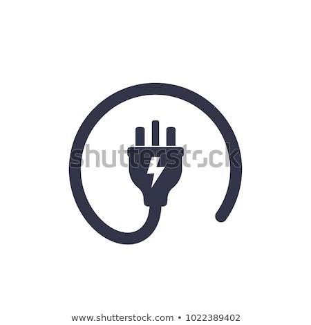 Elétrico plugue branco poder Foto stock © jeancliclac