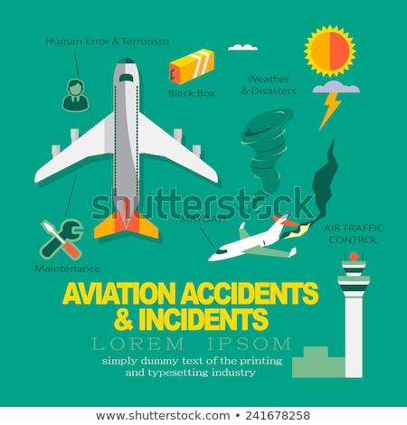 Vector infografía diseno aviación cielo fuego Foto stock © thanawong