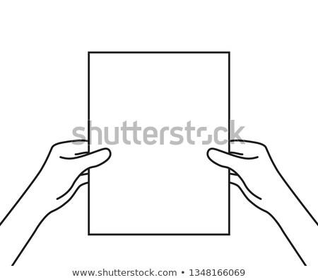 Silhueta homem mapa como cartaz Foto stock © Slobelix