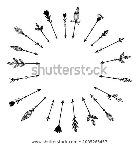 Boeg pijl ontwerp abstract illustratie sport Stockfoto © Krisdog