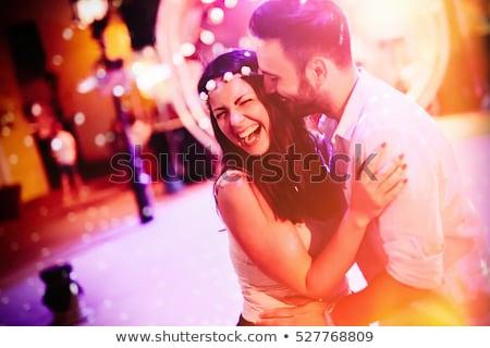 Couple Hugging Disco Stock photo © Kakigori