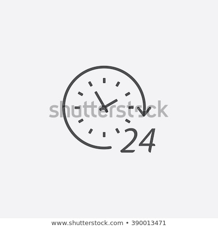 24 abrir azul vetor ícone botão Foto stock © rizwanali3d
