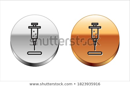 injection golden vector icon button stock photo © rizwanali3d