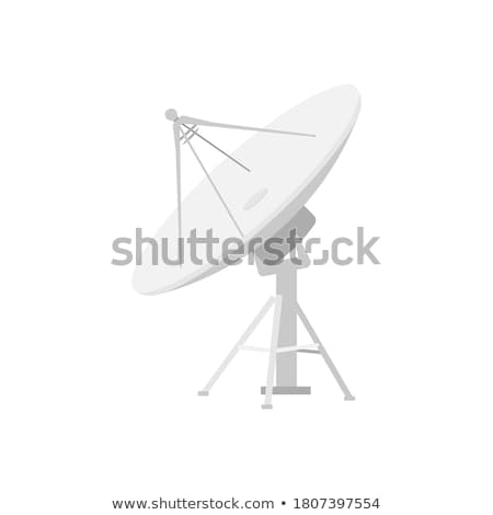 Radio radar transmitting signal icon on white background. Stock photo © tkacchuk