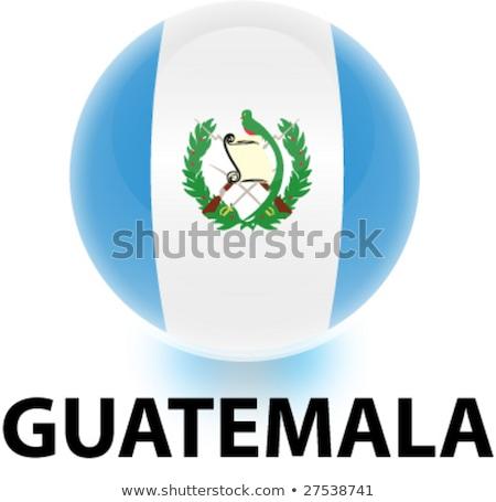 Harita bayrak düğme Guatemala vektör görüntü Stok fotoğraf © Istanbul2009