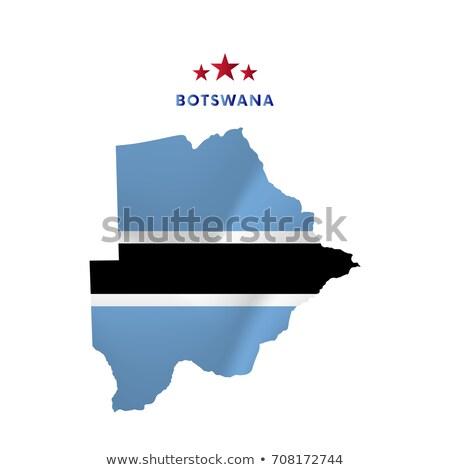 Stock photo: botswana flag map
