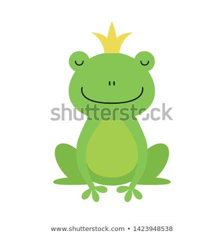 Foto d'archivio: Cartoon Isolated Frog With Crown