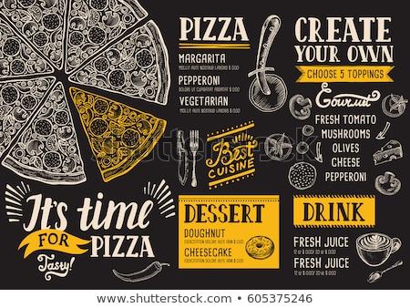 tradizionale · ristorante · italiano · menu · illustrazione · design · blu - foto d'archivio © adrenalina