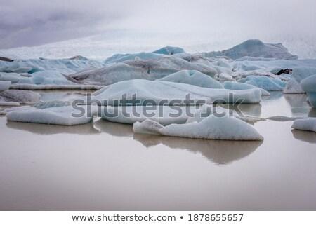Geleira lago água natureza paisagem panorâmico Foto stock © jarin13