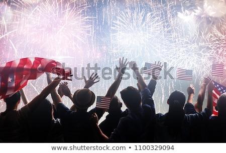 vierde · gelukkig · dag · amerika · illustratie · ontwerp - stockfoto © rizwanali3d