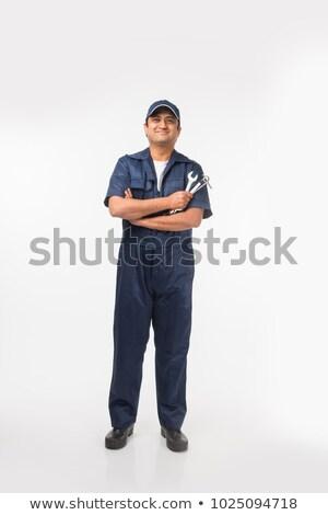 笑みを浮かべて 男性 メカニック スパナ 肖像 ストックフォト © wavebreak_media