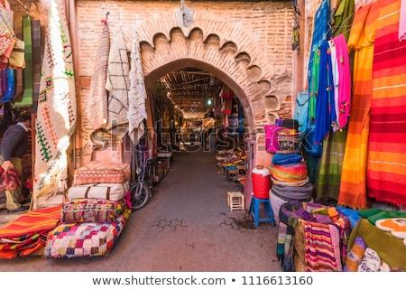 Marruecos colorido zapatos grupo África tienda Foto stock © boggy