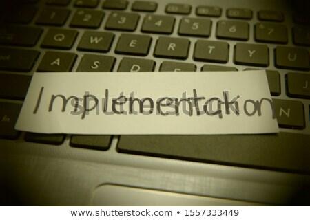 Tipográfico seguridad botón enfoque Foto stock © vinnstock